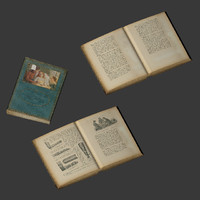 books heap 3d model