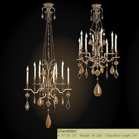 fine art lamps encased gems classic chandelier crystal 70-8640-1st