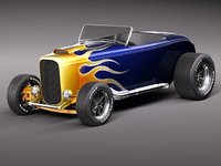 Ford 32 Hot Rod Flame Custom
