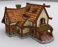 medieval fantasy country house 3d model