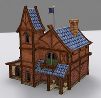 medieval fantasy building country house 3d model