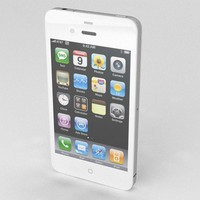 3ds max apple iphone 4 white