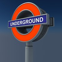 london underground signal 3d model
