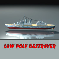 destroyer warship ship 3d model