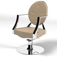 maletti pompadour cristal styling chair armchair hairdressing barbers salon