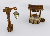 medieval fantasy marketplace items 3d model