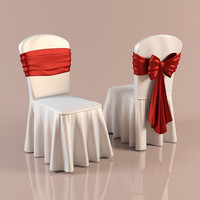 chair cover 3d obj
