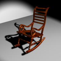 free rock chair 3d model