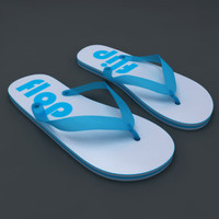 flip-flops footwear 3d model