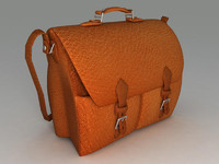 leather bag 3d model