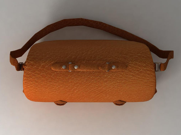 leather bag 3d model - Leather bag... by odio