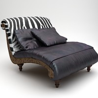Zebra Settee Lounge Chair Sofa