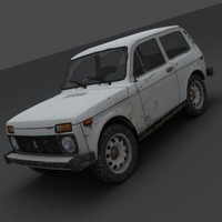 VAZ 2121 Niva Low-poly