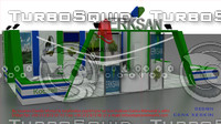 erksan exhibition stand design 3d model