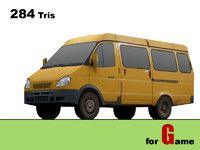 gaz gazel bus 3d 3ds