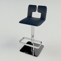 poltrona frau alo stool 3d model