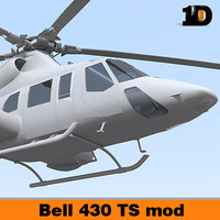 bell 430 helicopter 3d model