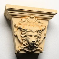 lion head key stone 3d max