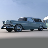 Chevy Nomad With Trailer