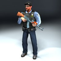 Arab_Police_Rigged_3DModel