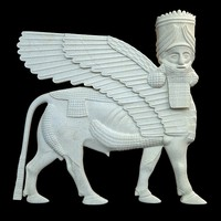 3ds assyrian bas relief sculpture