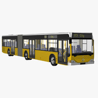 citaro g articulated bus 3d model