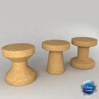 Cork Family Stool - Jasper Morrison
