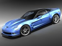 3ds max chevrolet corvette zr1 sport