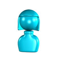 3ds max simple icon cartoon girl