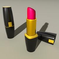 3d model lipstick lip lancome