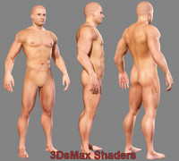 Realistic Muscled Male body (textured)