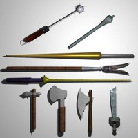 Medieval Hatchets & Lances (9)