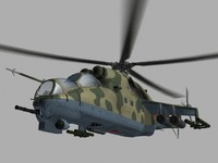 Mil Mi24 V Hind Soviet Helicopter Gunship Game Ready model
