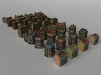 old city house 3d obj