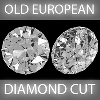 3d old european diamond cut