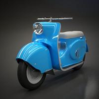 3d scooter vintage