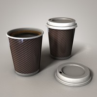 paper coffee cup 3d 3ds