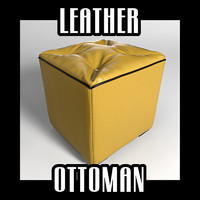 3d lwo leather ottoman