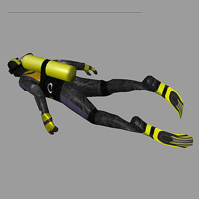 diver games realtime 3d model - diver... by modelsaler
