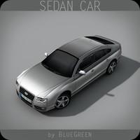3d realtime sedan car