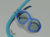 snorkel scuba 3d model