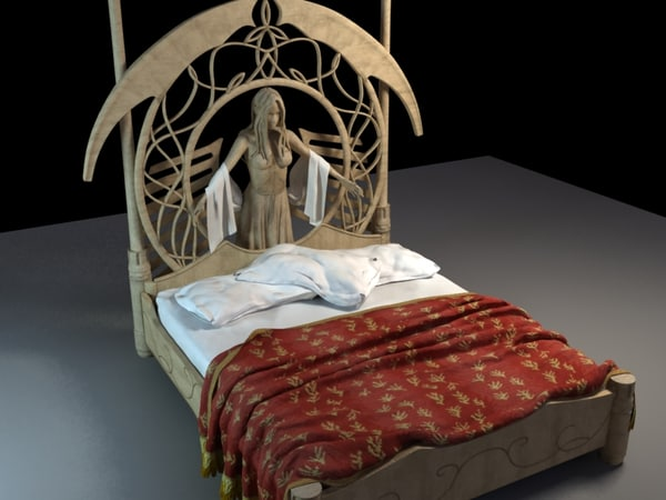 obj fantasy bed rivendell. Black Bedroom Furniture Sets. Home Design Ideas