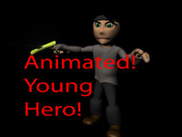 Animated Young Hero