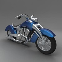 3d chopper bike model