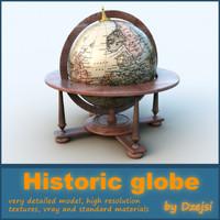 historical globe 3d model