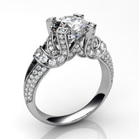 Engagement ring with white gold 4