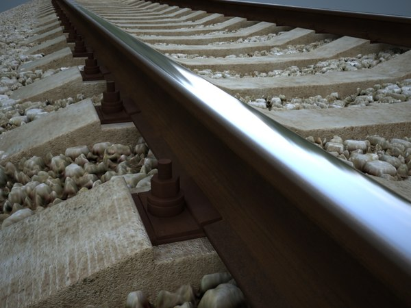 railroad rail 3d model - Detailed railroad... by bolegant