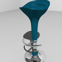 3d model modern bar stool seat