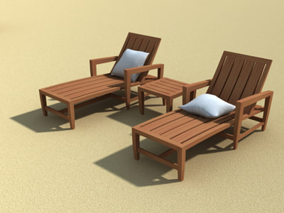 Kingsley Outdoor Furniture Amalfi 3d Model