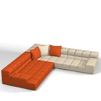 B&B itatlia tufty-time modern sectional sofa tufted tuft